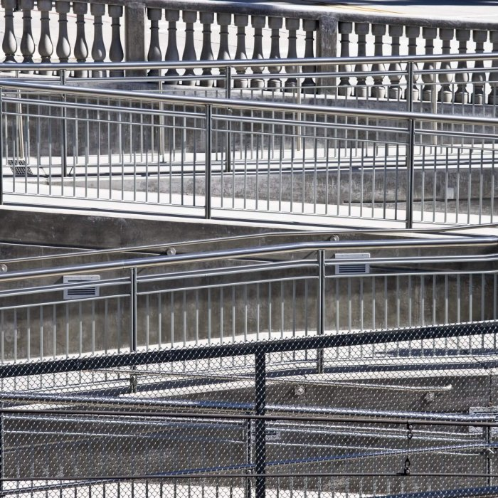stainless steel profiled wire railing
